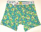 NEW $25 Psycho Bunny Boxer Briefs Mens Green Yellow Signature Logo Crossbones