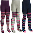 Girls Tights Stripe Glitter Knitted Tights Cotton Rich Age 2 3 4 5 6 7 8 Years