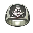 Mason Ring Deep Engraved Stainless Steel