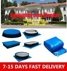 Round & Rectangular Swimming Paddling Pool Cover Inflatable Rope Keep Pool Clean