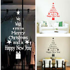 Merry Christmas Wall Sticker Diy Vinyl Art Window Display Decoration Home Decal