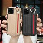 Shockproof Canvas Strap Wallet Stand Case Cover For Apple iPhone  12 11 Pro Max