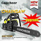 COOCHEER 62CC 20 Gas Chainsaw Handed Petrol Chain Woodcutting 2 Cycle 4HP e 245