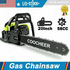 COOCHEER 62CC 20 Gas Chainsaw Handed Petrol Chain Woodcutting 2 Cycle 4HP e 247