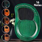16 String Lyre Harp Mahogany Body Bone Nut with Tuning Wrench for Beginner Gift