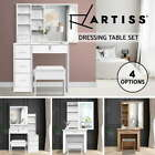 Artiss Dressing Table Mirror Stool Jewellery Makeup Storage Cabinet Organizer