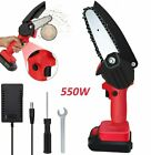 4'' Rechargeable Mini Small Handheld Cordless Electric Chainsaw Wood Cutter Tool