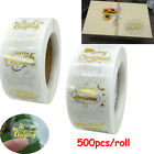 500pcs Clear Merry Christmas Stickers Thank You Gifts Labels Xmas Seal Sticker√