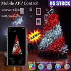 LED Christmas Tree Decoration Fairy String Lights Bluetooth App Remote Control