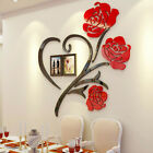 Family Love Rose Wall Decals 3d Diy Photo Frame Wall Stickers Mural Home Decor