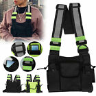 Reflective Tactical Front Chest Rig Bag Nylon Pouch Outdoor Sport Waterproof Men