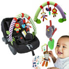 'Newborn Stroller Crib Pram Travel Spiral Activity Toy Rattle Squeak Teether Baby
