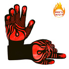 1 PAIR 1472℉ SILICONE Heat Resistant Cooking Oven Gloves Grill BBQ Mitt US Stock