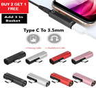 2in1 DUAL TYPE-C USB To 3.5mm AUX Jack Headphone Adapter Connector For XPERIA