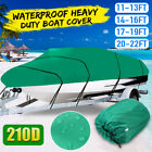 Waterproof Heavy Duty Trailerable Boat Cover Fishing V-Hull Runabout 11-22ft US
