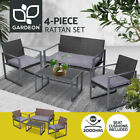 Gardeon Patio Furniture Set Outdoor Lounge Setting Wicker Garden Deck Sofa Bench