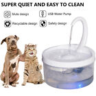 2L Automatic Electric Pet Water Fountain Cat Dog Drinking Dispenser with Filter