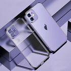 For iPhone 12 11 Pro Max XS XR X 8 7 Plating Shockproof Matte Clear Case Cover