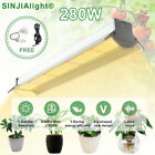 280W LED Grow Light Hydroponic Full Spectrum Indoor Veg Flower Plant Lamp Tube