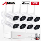 ANRAN Wireless Security Camera System Oudoor 8CH 5MP NVR WIFI Audio 3MP Cams Set