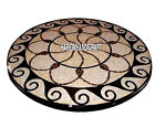 Vtg. Marble Dining Room Table Inlay Decorative Outdoor Mosaic Decor Garden H3982