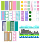 Slimline Background Hollow Frame Metal Cutting Dies Diy Embossing Stencil Cards