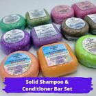 Set of 2 Solid Shampoo + Conditioner Bars | Choice of Scent | Handcrafted