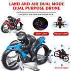 Kid RC Drone Land-air Dual Mode Quadcopter Motorcycle Aircraft Quadcopte Toy USA