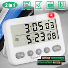 Digital Kitchen Cooking Timer Large LCD Count-Down Up Clock Loud Alarm Magnetic