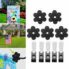 LOT Flag Stops and 5pc Anti Wind Clips Rubber Garden Flag Stoppers W/Clear Clips