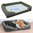 Orthopedic XXL X-Large Dog Bolster Bed Solid Foam Impermeable Cozy Basket Lounge