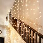 UK 20-80LED Curtain Style Fairy String Warm Lights Wedding Party Valentine Decor