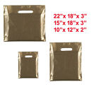 GOLD COLOURED PATCH HANDLE PLASTIC CARRIER BAGS