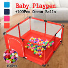 50''x26'' Foldable Baby Playpen Kids Safety Home Pen Fence Play Center Yard