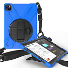 Shockproof Hybrid Stand Cover w/ Shoulder Strap For iPad Pro 9.7 10.5 11 12.9
