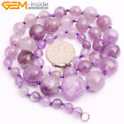 "6-14mm Natural Stone Graduated Faceted Beaded Knot Jewelry Necklace 18-22"" Gift"
