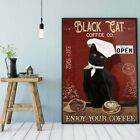 Black cat coffee co poster, Cat coffee Poster No frame, Wall Decoration HOT