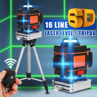 6D 16 /12 Line Laser Level Auto Self Leveling 360° Rotary Cross Measure Tool