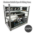12 GPU Stackable Open Air Mining Rig Miner Rack Computer Frames FOR BTC Ethereum