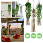 1/2/3PCS Plant Hanger Rope Macrame Hanging Planter Holder Basket Flower Pot Jute