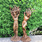 """6"""" Dryad Ornament Green Man Resin Statue Figurines Crafts Decor Home Plant Tool"""