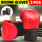 2 Colors 1 Pair Durable Gloves Fighting Training Sparring Punching Boxing Gloves