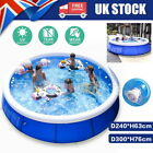 Round Paddling Garden Pool Kid Fun Inflatable Family Swimming Patio Outdoor Seat