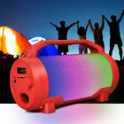 1x Portable LED lights Bluetooth Speaker Remote Control Rechargeable Party Home