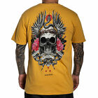 Sullen Men's Haefs Premium Short Sleeve T Shirt Mustard Yellow Clothing Appar...