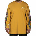 Sullen Men's Torch Long Sleeve T Shirt Mustard Yellow Clothing Apparel Tattoo...