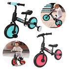 4 In 1 Kids Bike Balance Bike With Training Wheels And Pedals Children Toddler -