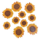 5Pcs Sunflower Sew on/Iron on Embroidered Patch Diy Craft Clothes Appliq TK