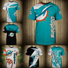 Внешний вид - Miami Dolphins Football T Shirts Men's Casual Short Sleeve Summer Shirts Tee Top