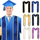 Unisex Academic Dress Graduation Robes Black Sashes Graduation Stole Sash